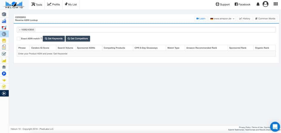 Helium 10 Cerebro Tutorial deutsch, Kindle Business Tutorial Keyword Research  Automatisch generierte Beschreibung