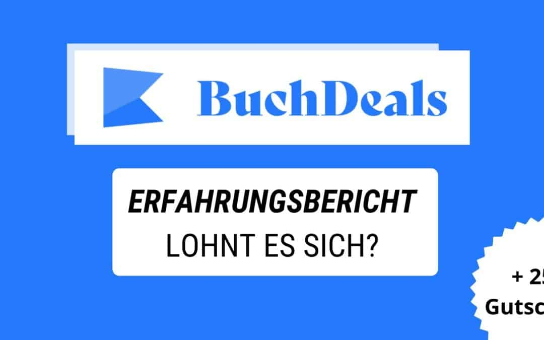 Buchdeals Erfahrungsbericht + 25€ Gutschein Code